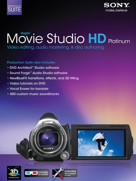 Vegas Movie Studio HD Platinum 11 Production Suite (11.0.322 | 5.0.156 | 10.0.176)