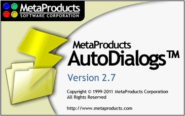 MetaProducts AutoDialogs 2.7.0.184