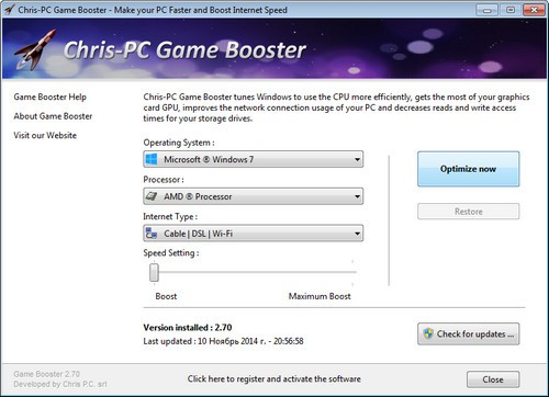 Chris-PC Game Booster 2.99