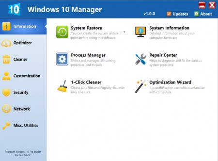 Windows 10 Manager 1.1.0 Final