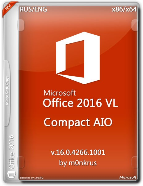 Microsoft Office 2016 VL x86/x64 Compact AIO by m0nkrus