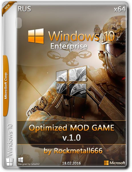 Windows 10 Enterprise x64 Optimized MOD GAME by Rockmetall666 v.1.0