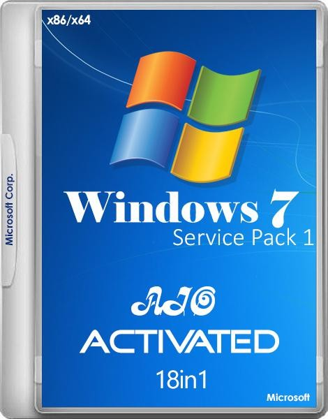 Windows 7 SP1 x86/x64 -18in1- Activated v.5 by m0nkrus