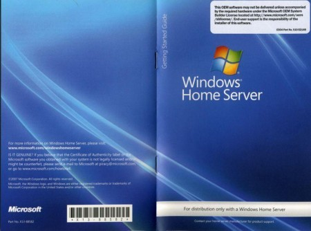 Windows Home Server w/o PP1(OEM) EN + русский MUI