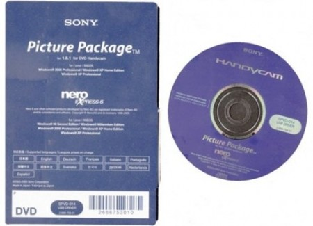 Sony Picture Package 1.8.1 for DVD Handycam + Nero Express 6
