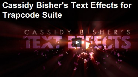 Red Giant Guru Presets: Cassidy Bisher's Text Effects 1.1 for Trapcode Suite