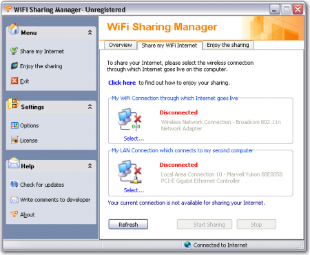 WiFi Sharing Manager 2.0.0.0